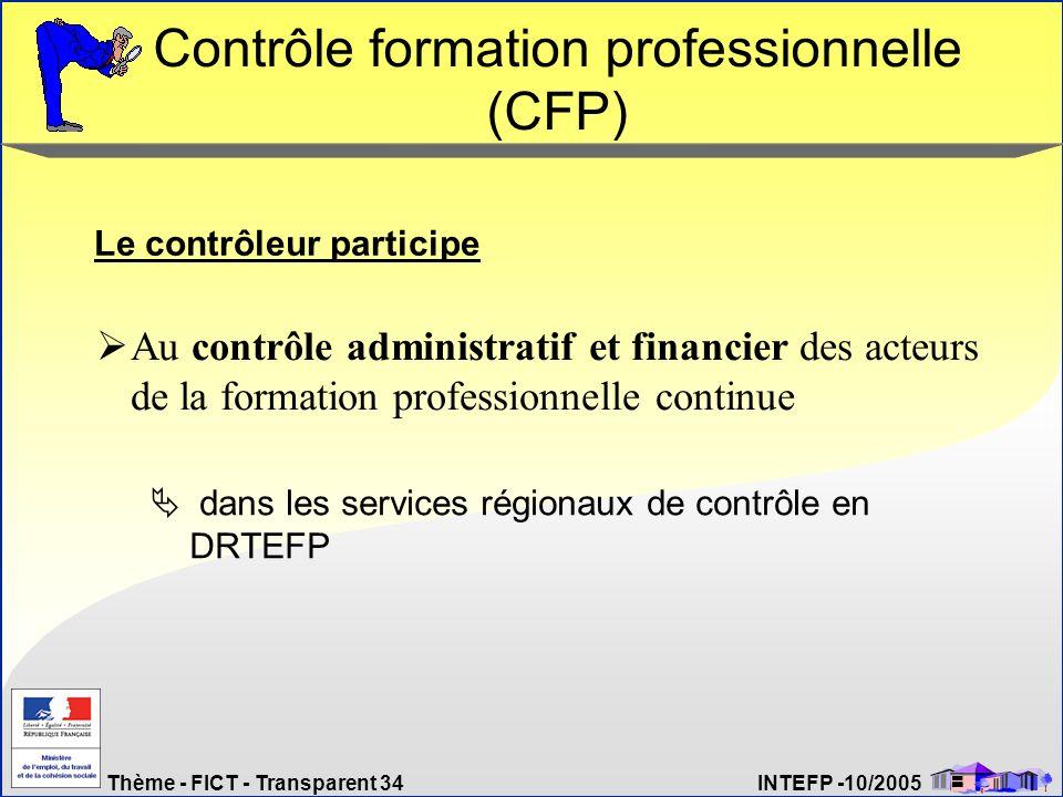 Contrôle formation professionnelle (CFP)