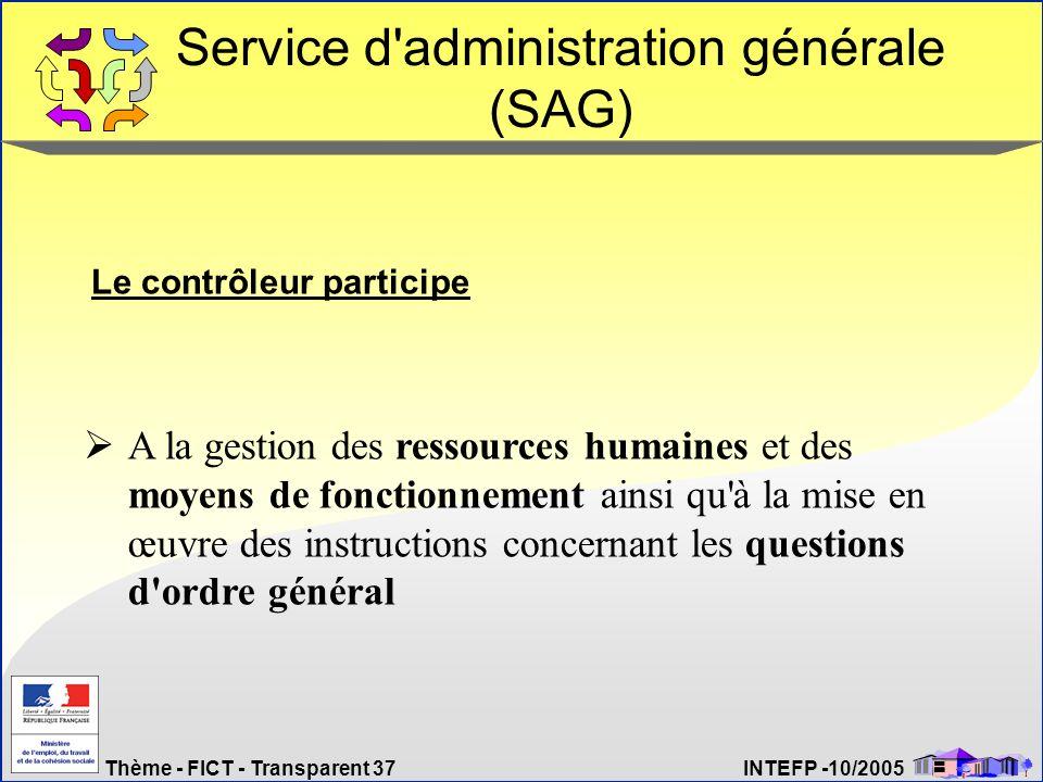 Service d administration générale (SAG)