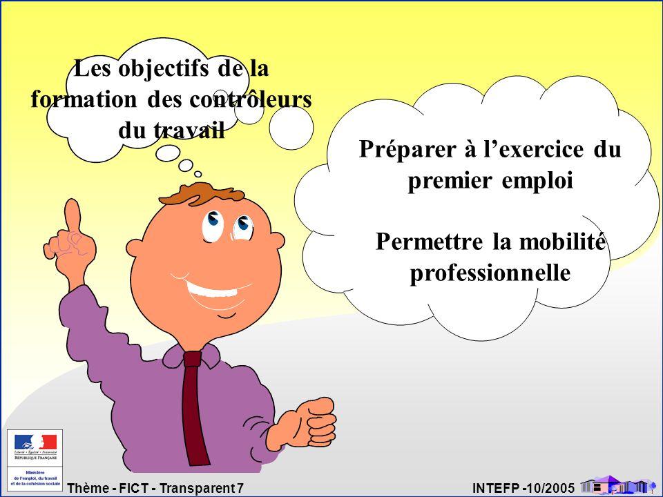 Les objectifs de la formation des contrôleurs du travail