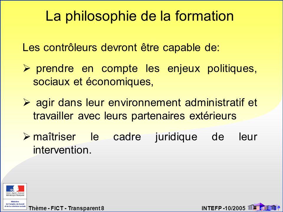 La philosophie de la formation