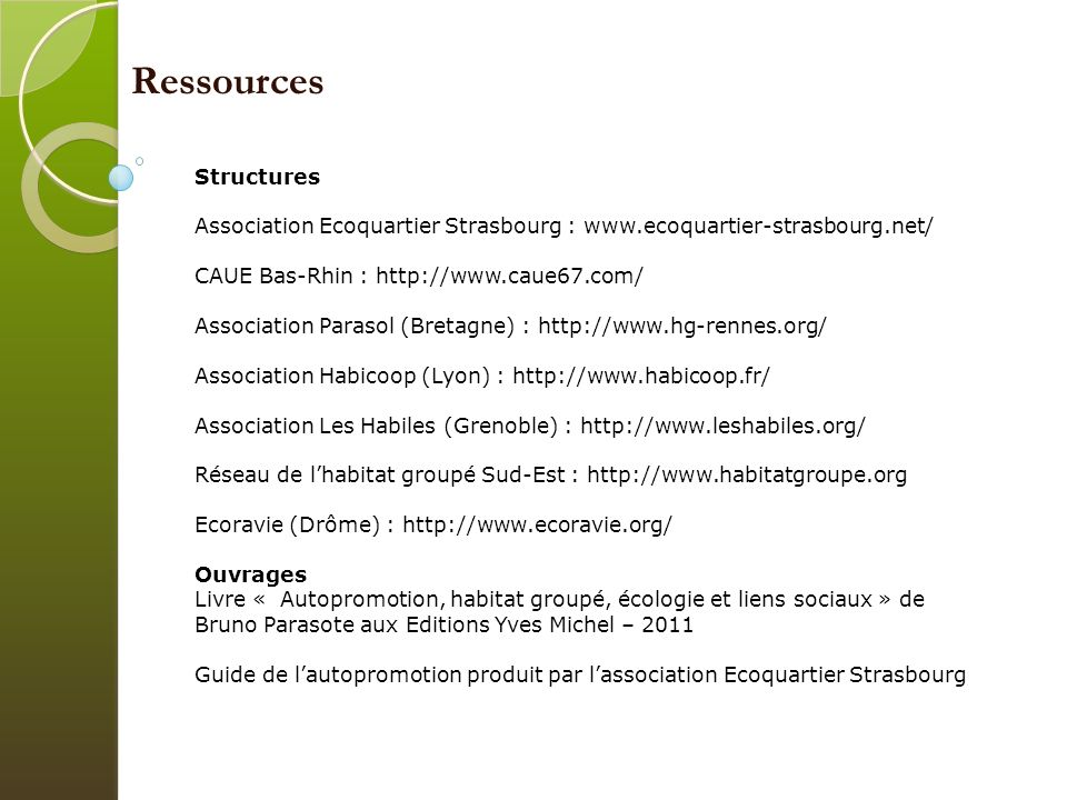 Ressources Structures