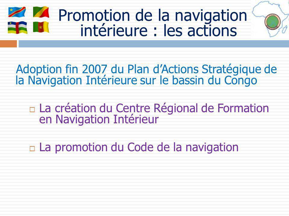 Promotion de la navigation intérieure : les actions