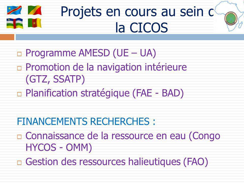 Projets en cours au sein de la CICOS