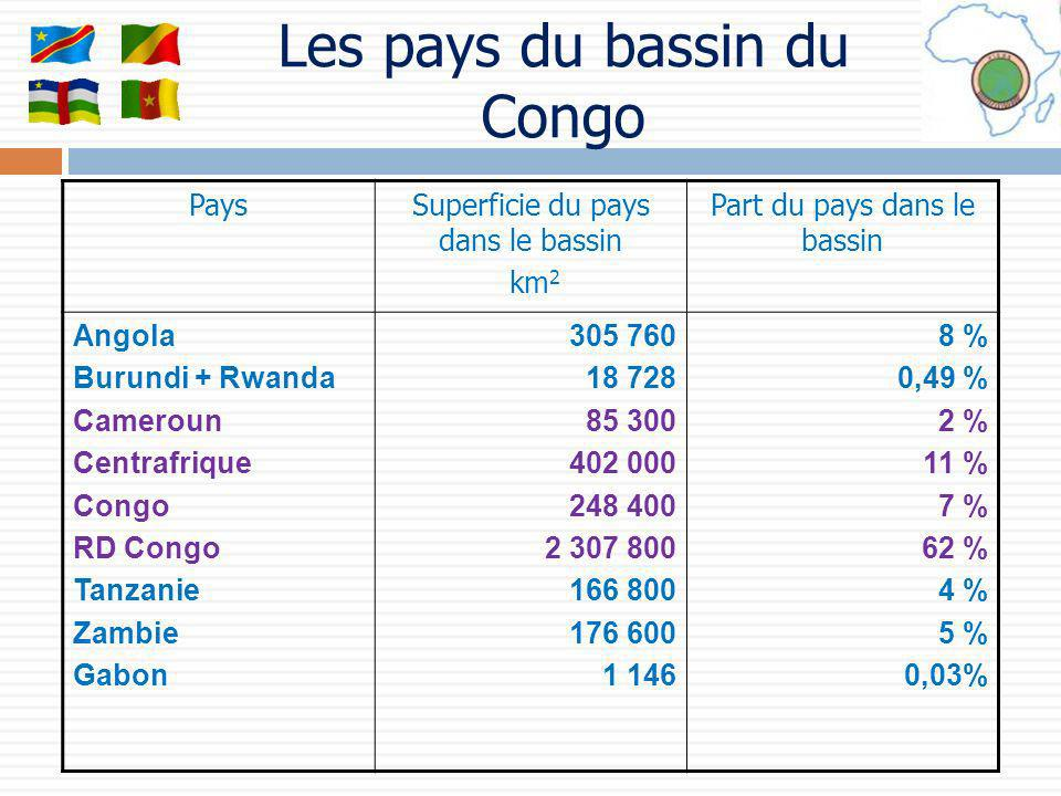 Les pays du bassin du Congo