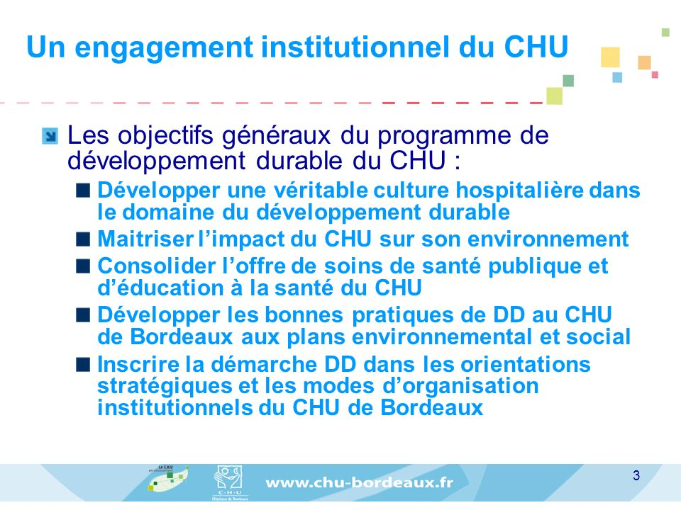 Un engagement institutionnel du CHU