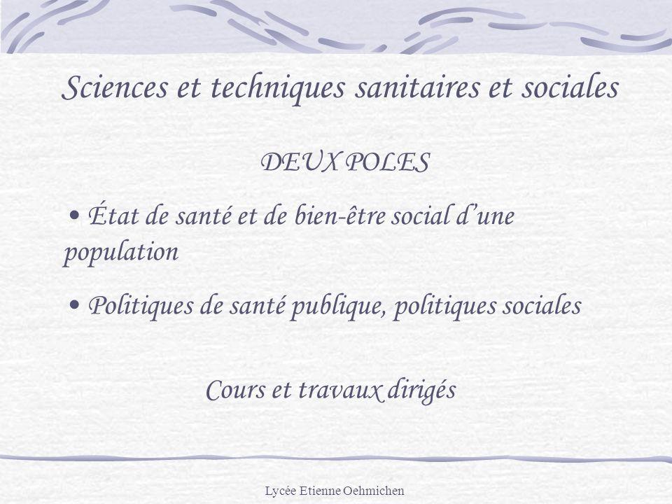 Sciences et techniques sanitaires et sociales