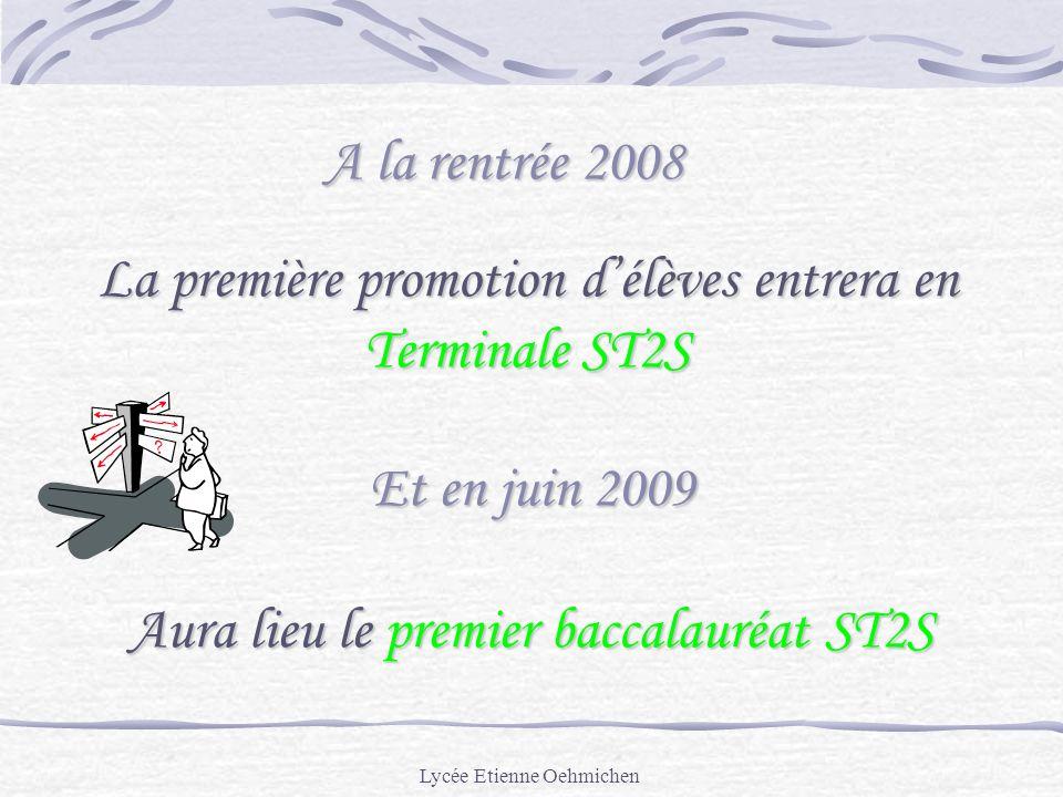La première promotion d'élèves entrera en Terminale ST2S