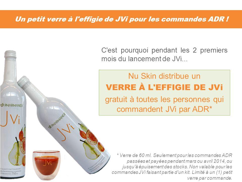 Un petit verre à l effigie de JVi pour les commandes ADR !
