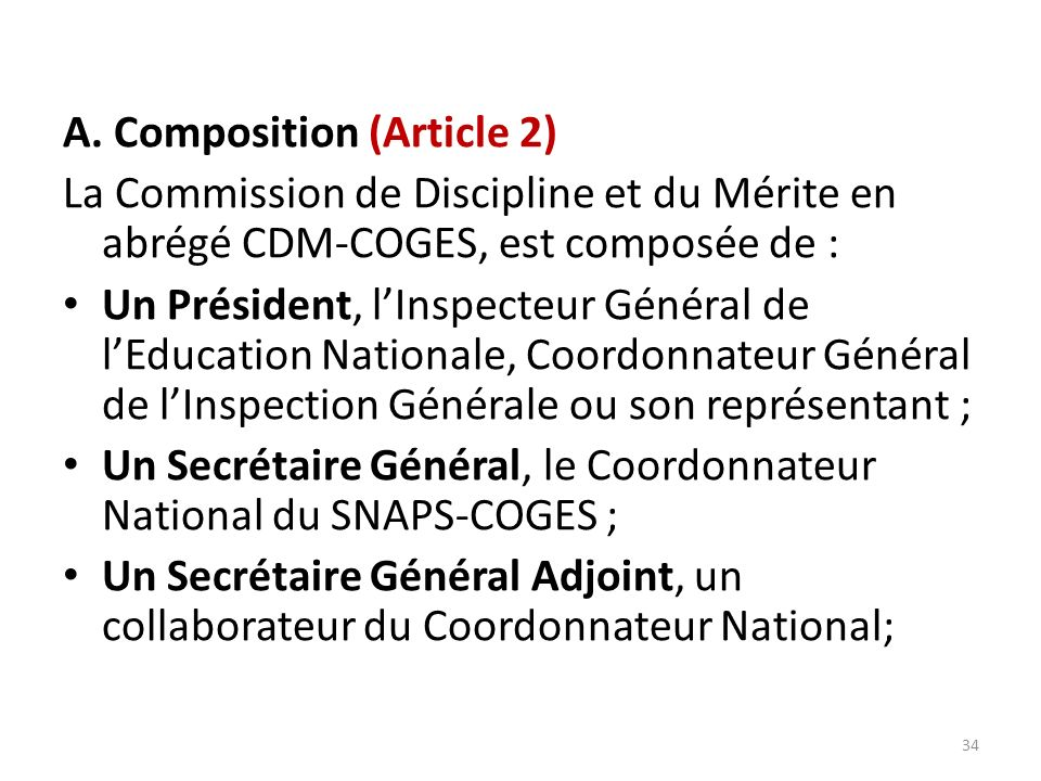 A. Composition (Article 2)