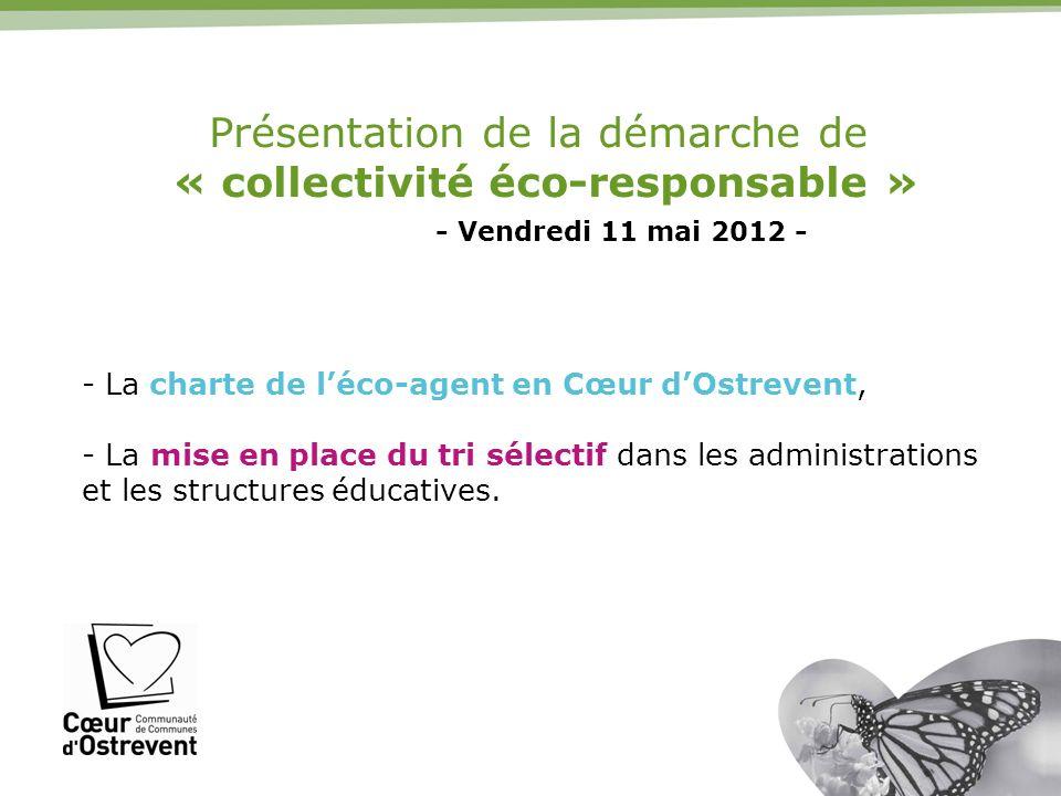 Présentation de la démarche de « collectivité éco-responsable »