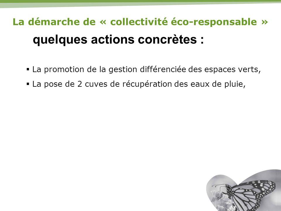 La démarche de « collectivité éco-responsable »
