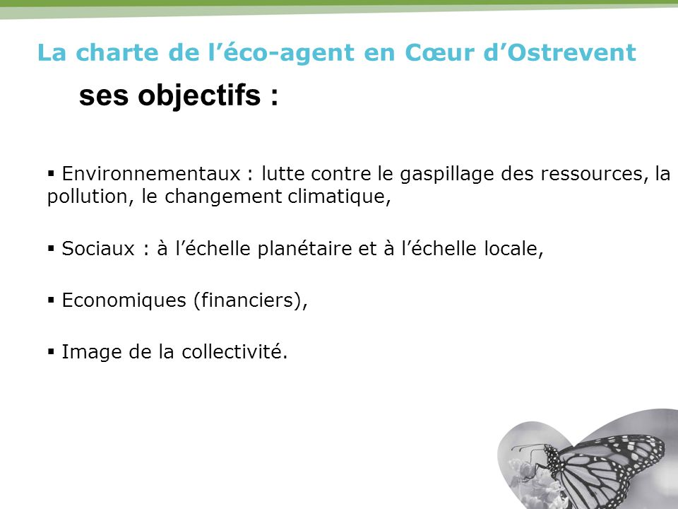 La charte de l'éco-agent en Cœur d'Ostrevent