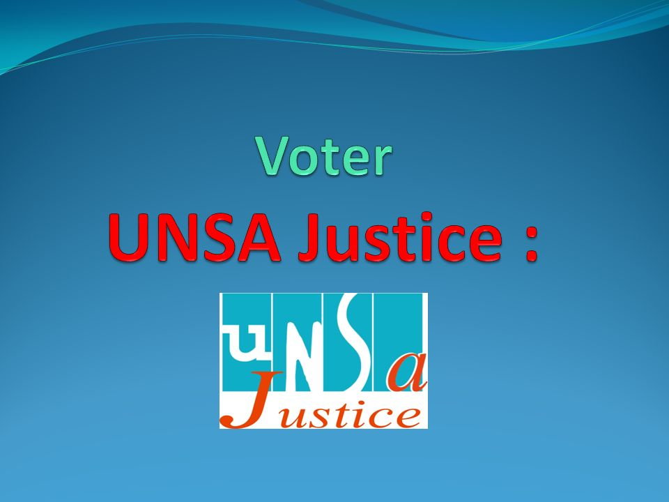 Voter UNSA Justice :