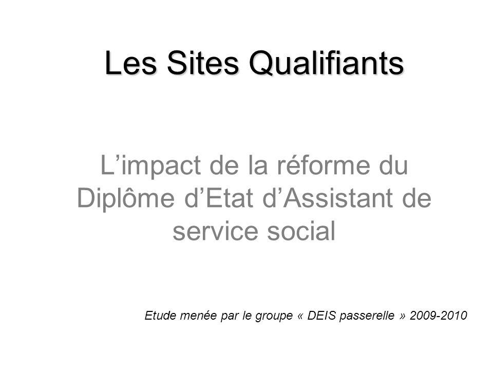 Les Sites Qualifiants L'impact de la réforme du Diplôme d'Etat d'Assistant de service social