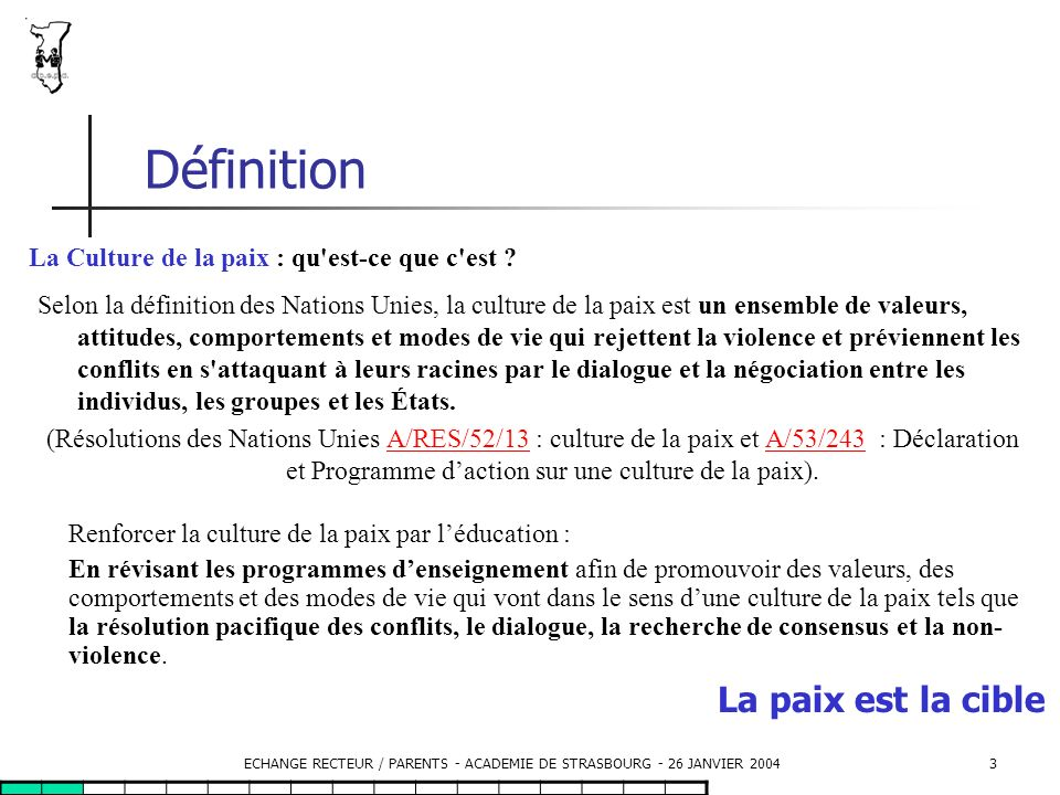 ECHANGE RECTEUR / PARENTS - ACADEMIE DE STRASBOURG - 26 JANVIER 2004