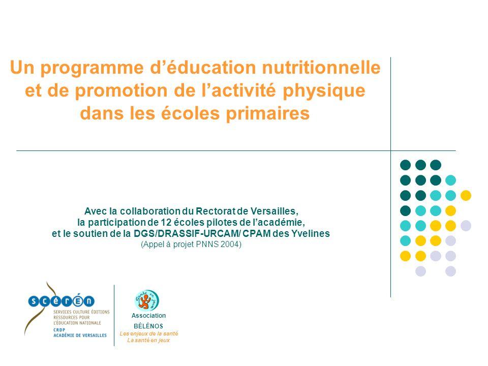 Un programme d'éducation nutritionnelle et de promotion de l'activité physique dans les écoles primaires