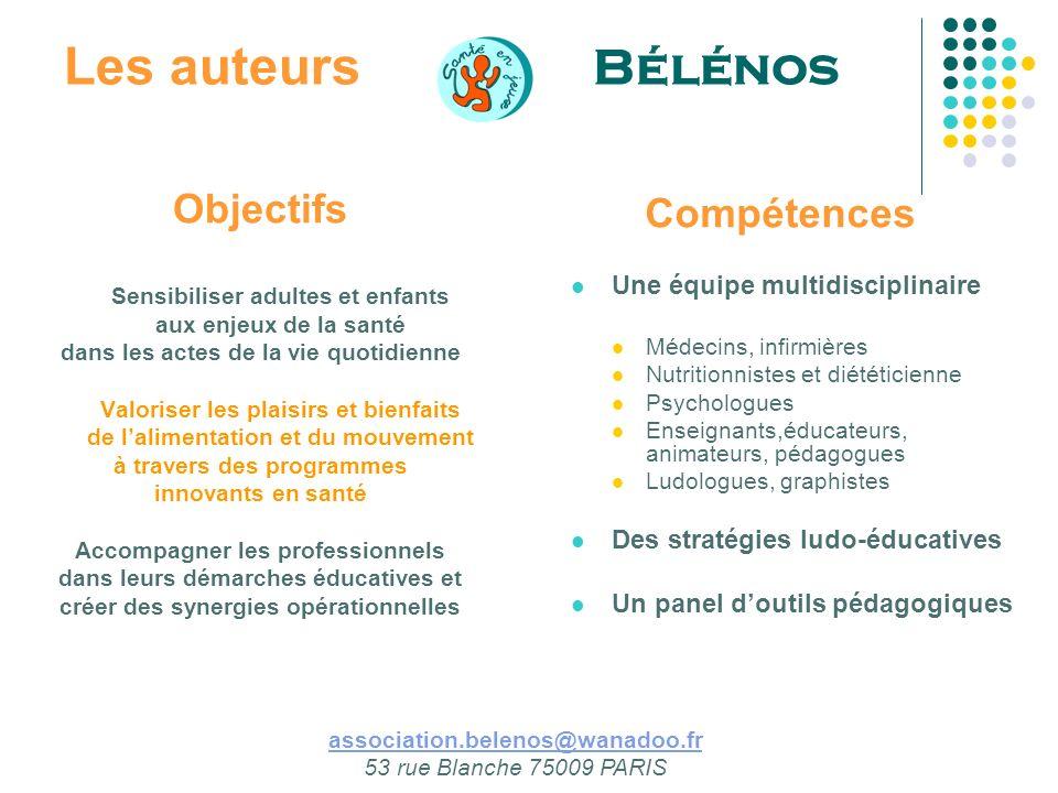 Les auteurs Bélénos Objectifs Compétences