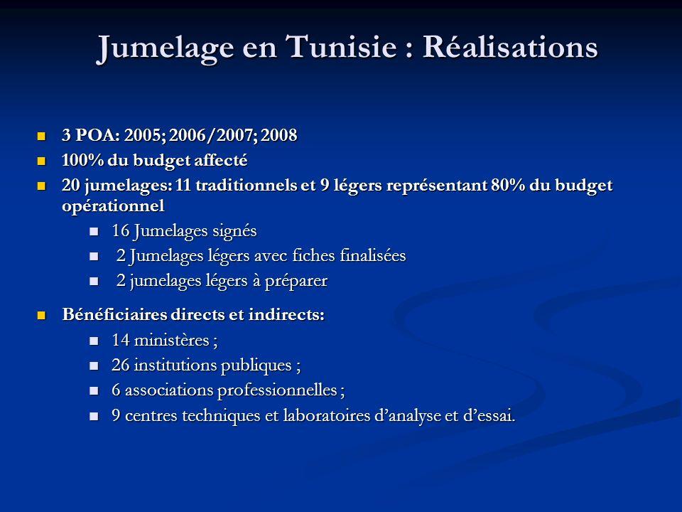 Jumelage en Tunisie : Réalisations