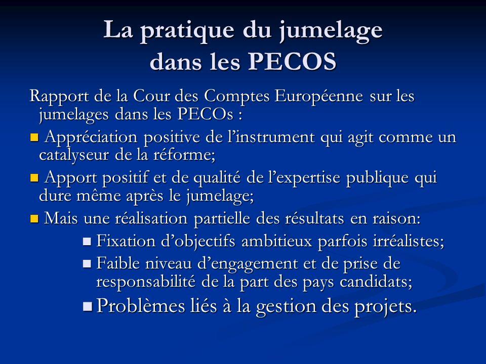 La pratique du jumelage dans les PECOS