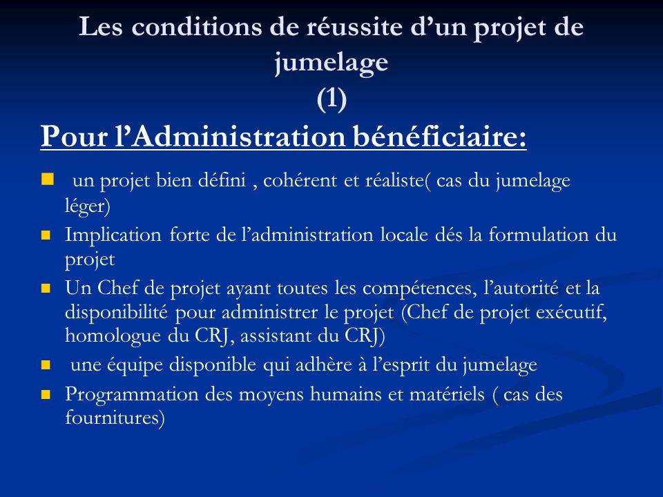 Les conditions de réussite d'un projet de jumelage (1)