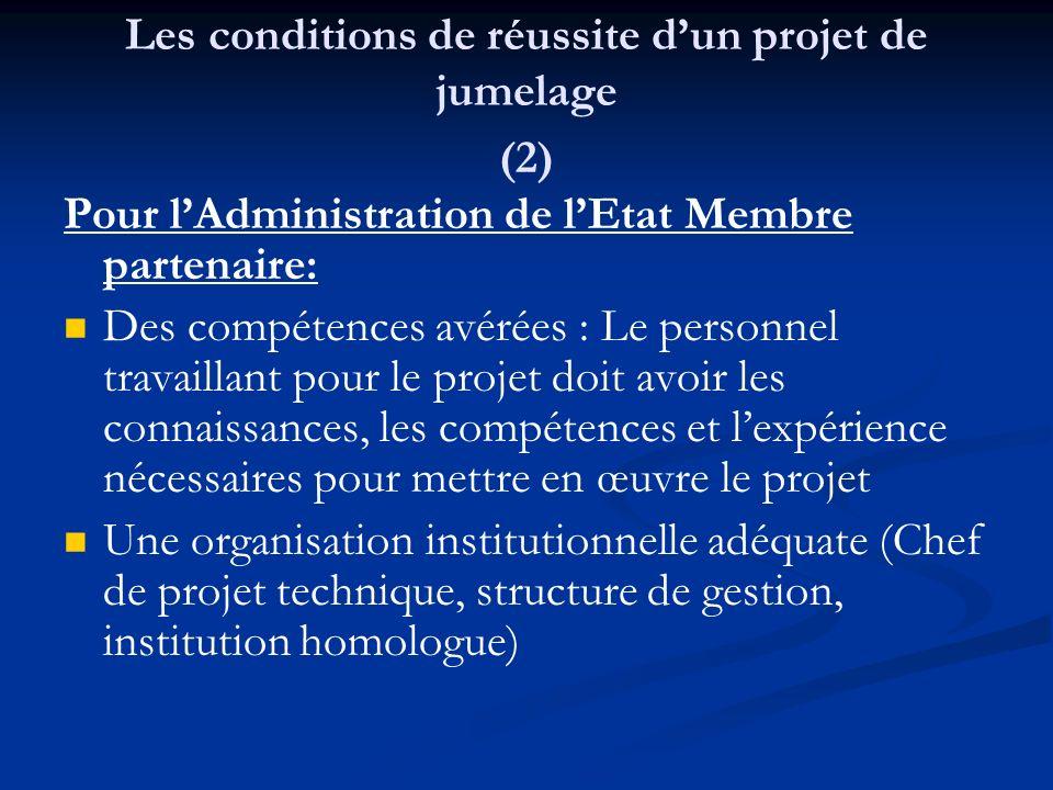Les conditions de réussite d'un projet de jumelage (2)