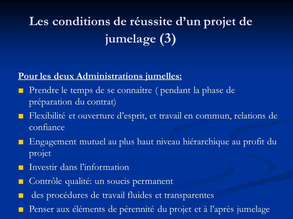 Les conditions de réussite d'un projet de jumelage (3)