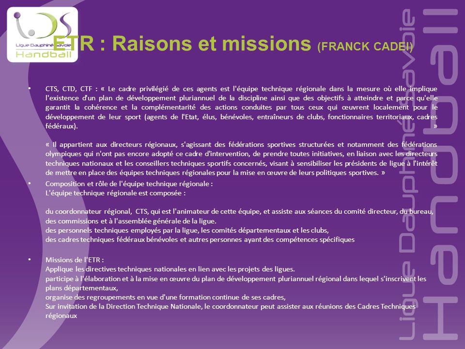 ETR : Raisons et missions (FRANCK CADEI)