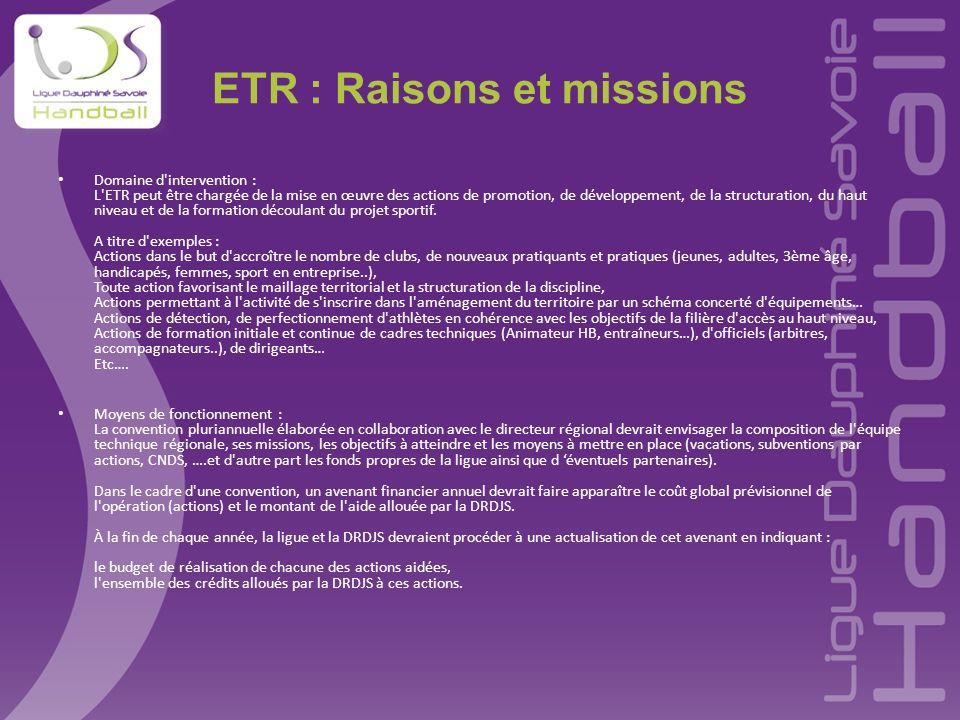 ETR : Raisons et missions