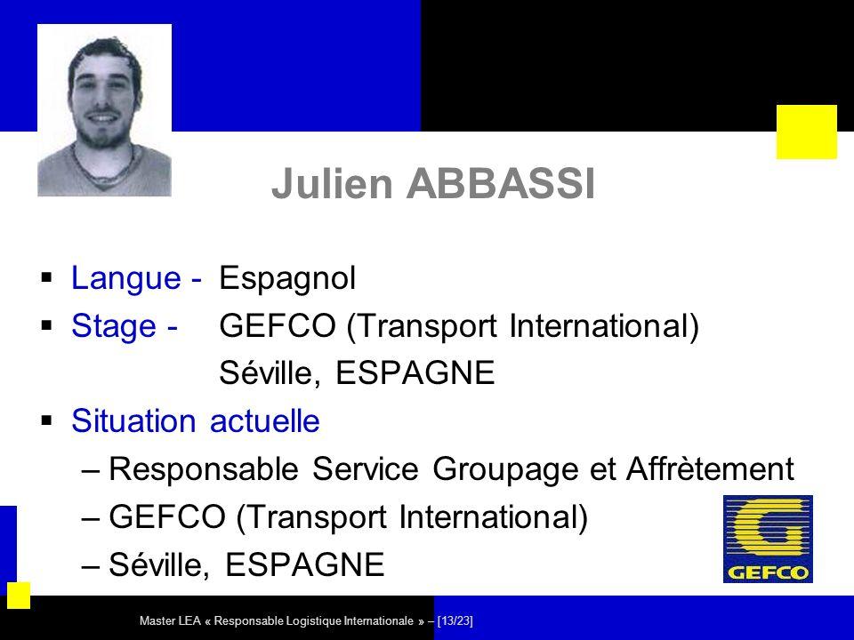 Julien ABBASSI Langue - Espagnol