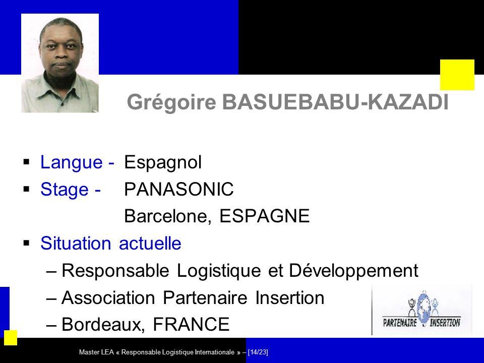 Grégoire BASUEBABU-KAZADI