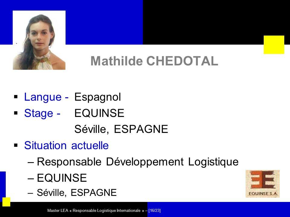 Mathilde CHEDOTAL Langue - Espagnol Stage - EQUINSE Séville, ESPAGNE