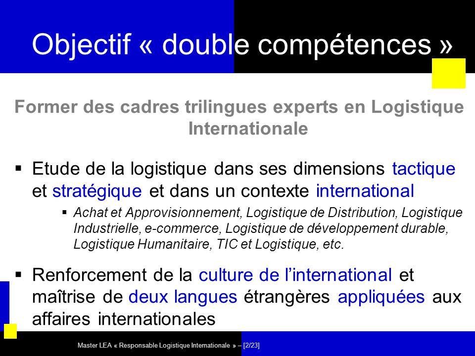 Objectif « double compétences »