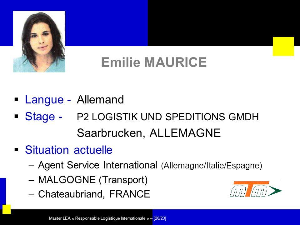 Emilie MAURICE Langue - Allemand