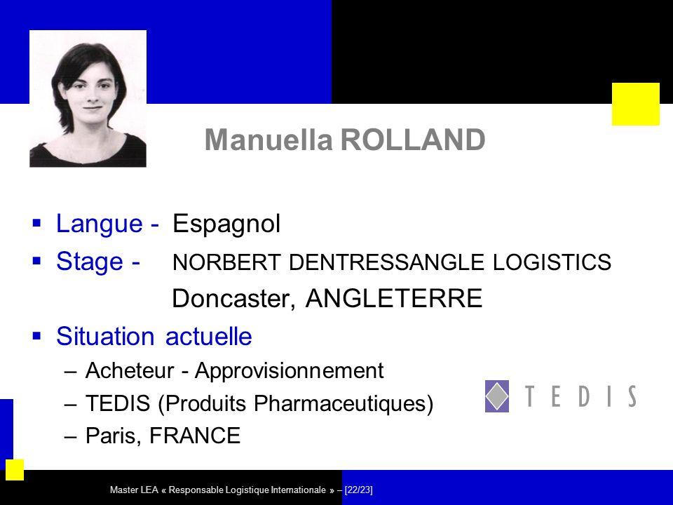 Manuella ROLLAND Langue - Espagnol