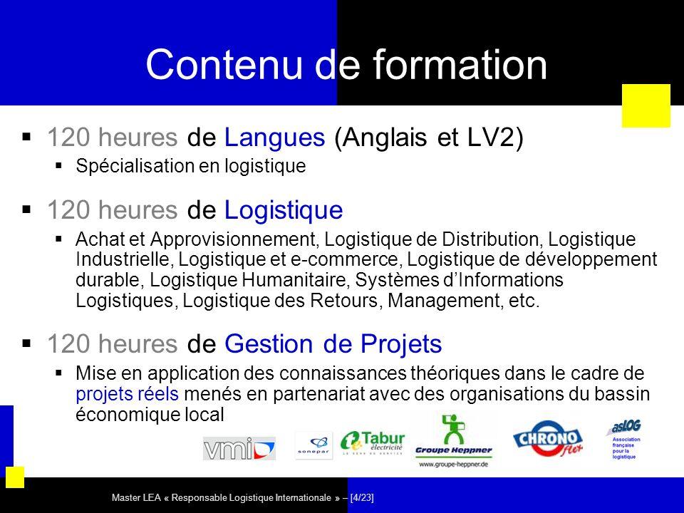 Contenu de formation 120 heures de Langues (Anglais et LV2)