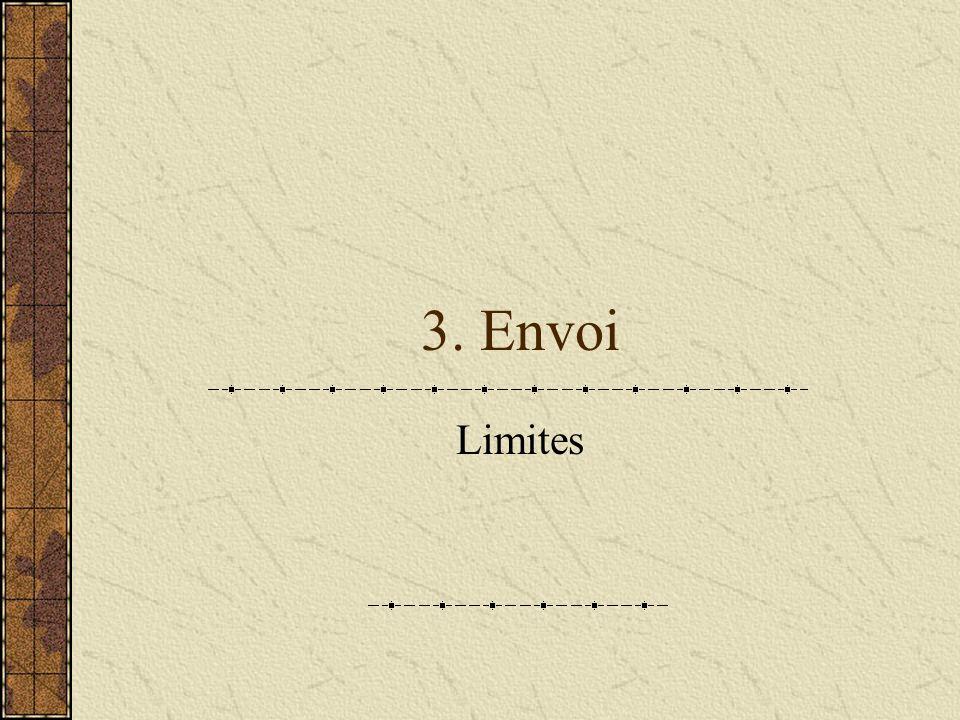 3. Envoi Limites