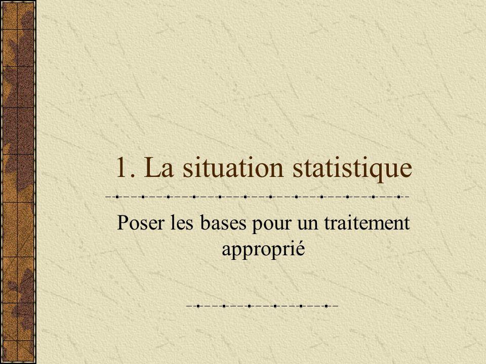 1. La situation statistique