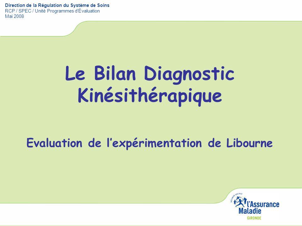 Le Bilan Diagnostic Kinésithérapique