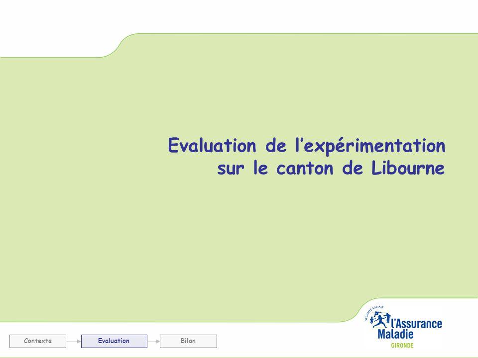 Evaluation de l'expérimentation sur le canton de Libourne