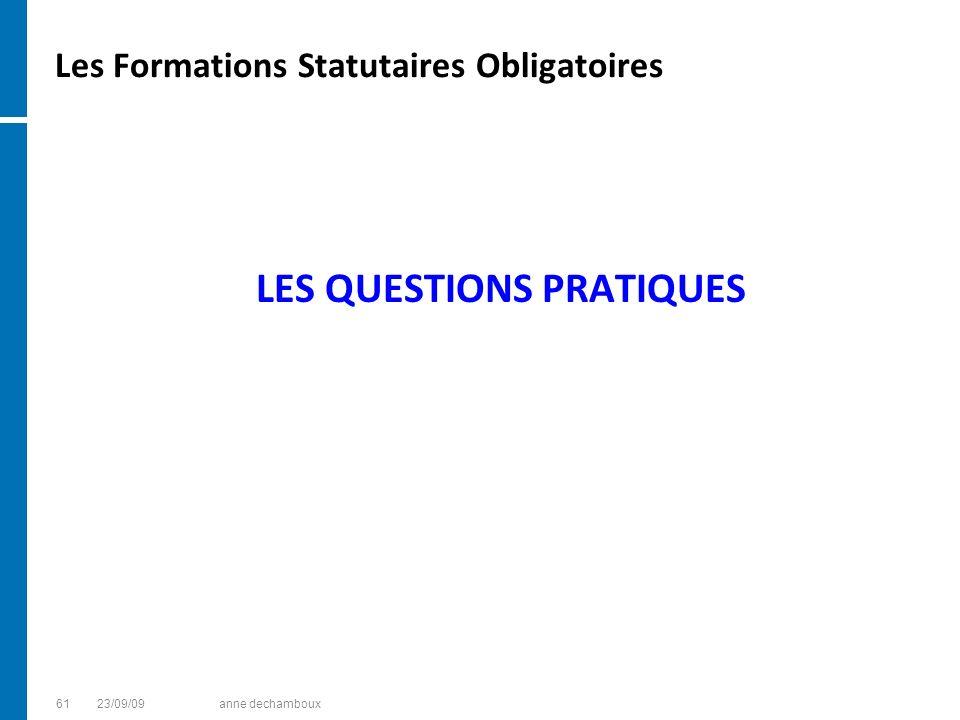 Les Formations Statutaires Obligatoires