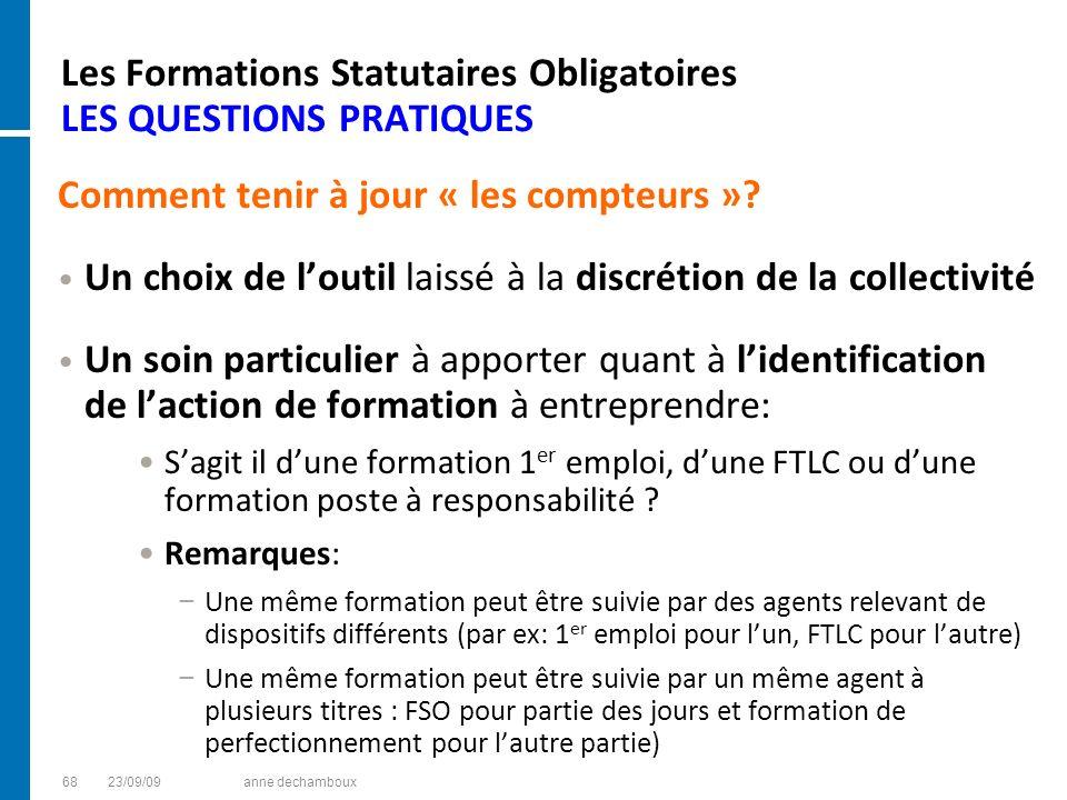 Les Formations Statutaires Obligatoires LES QUESTIONS PRATIQUES