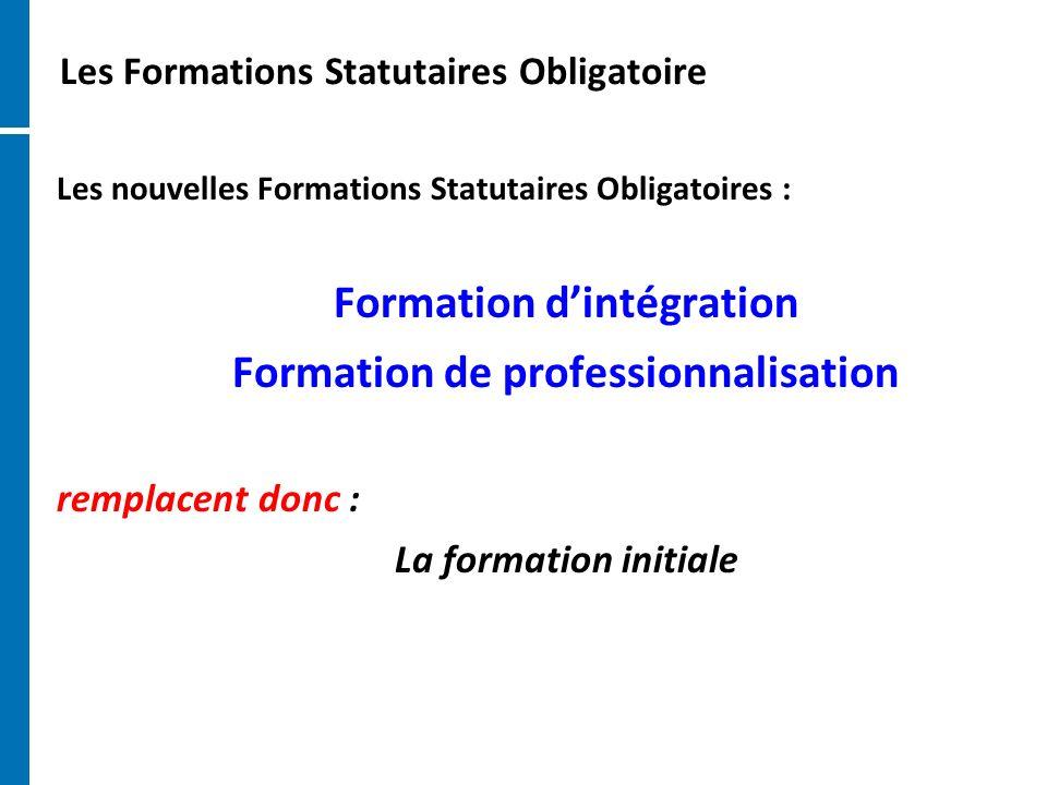 Les Formations Statutaires Obligatoire