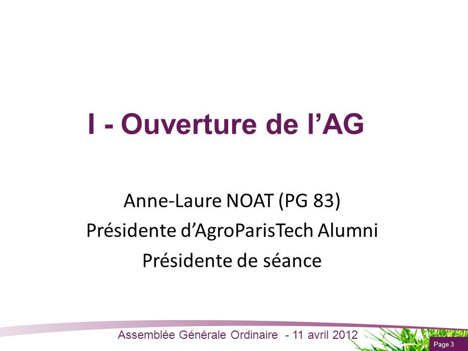 Présidente d'AgroParisTech Alumni