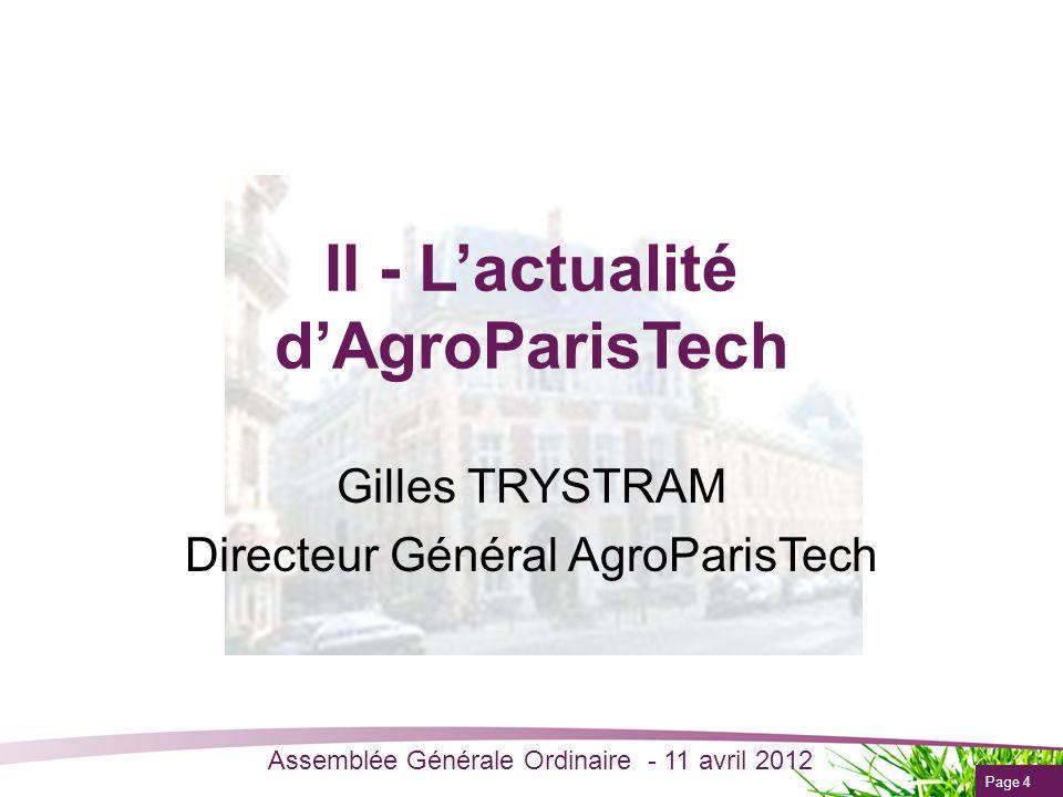 II - L'actualité d'AgroParisTech
