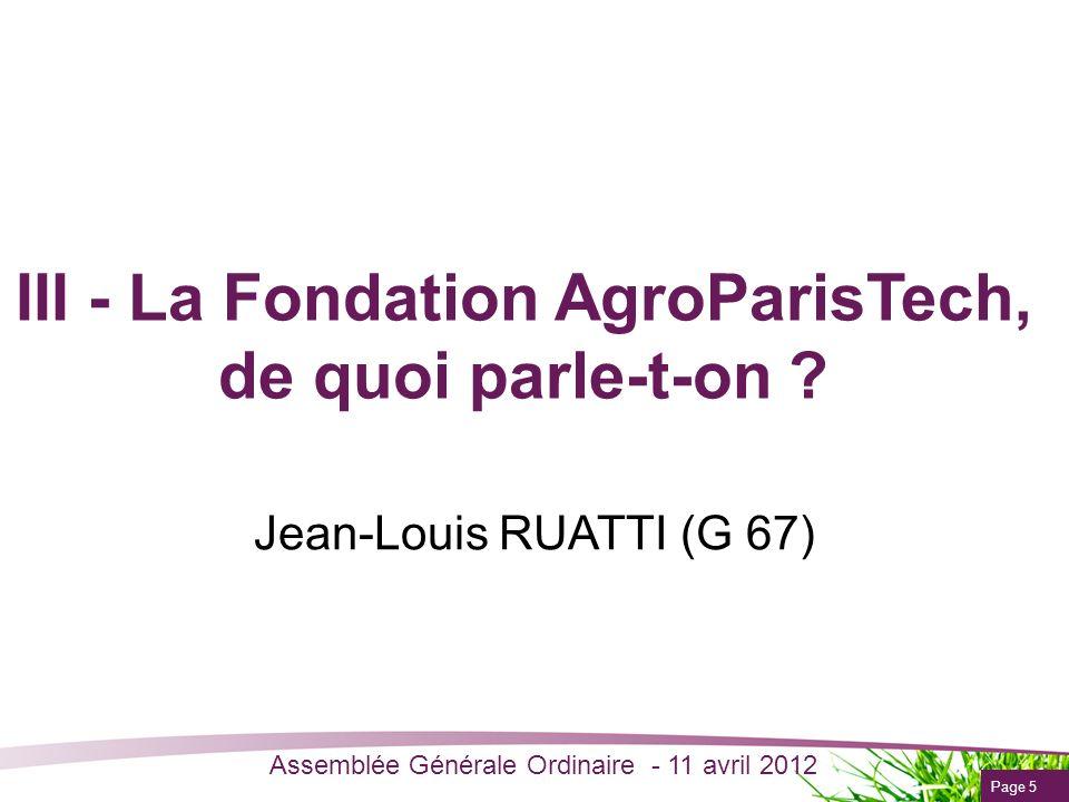 III - La Fondation AgroParisTech, de quoi parle-t-on