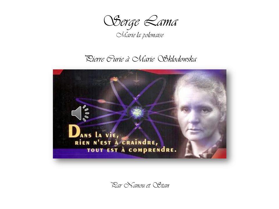 Pierre Curie à Marie Sklodowska