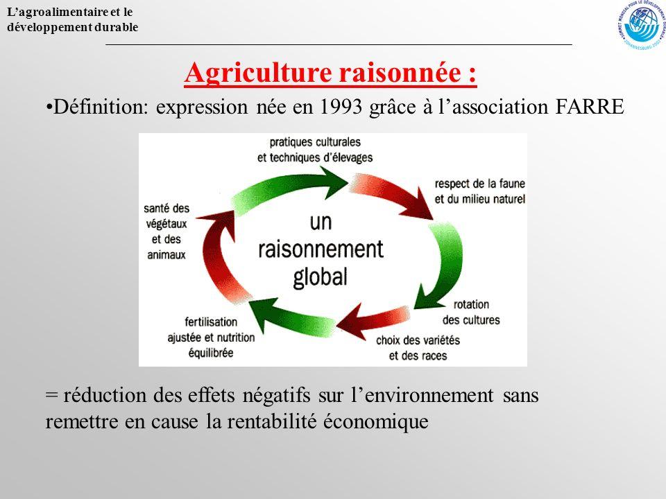 Agriculture raisonnée :
