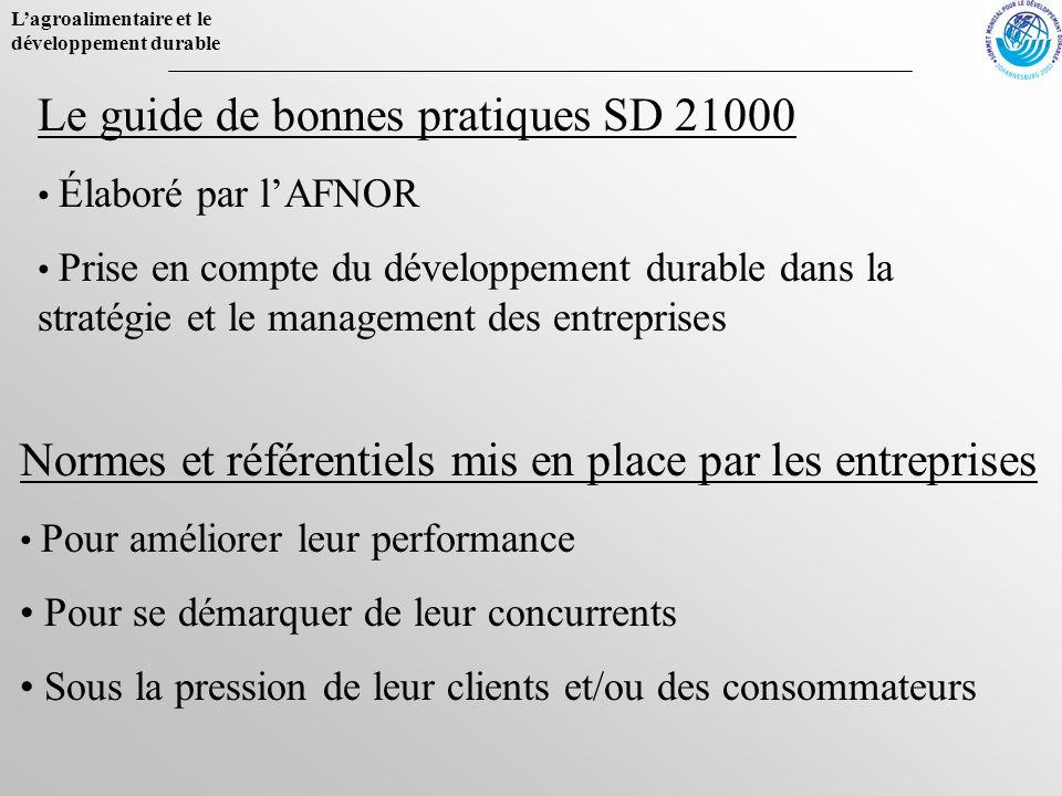 Le guide de bonnes pratiques SD 21000