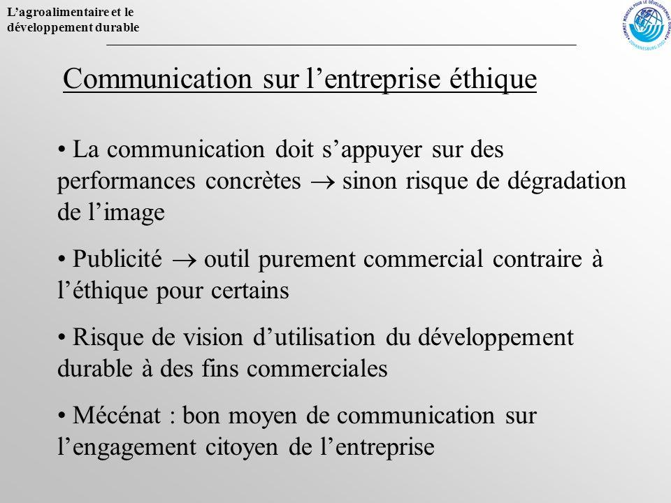 Communication sur l'entreprise éthique