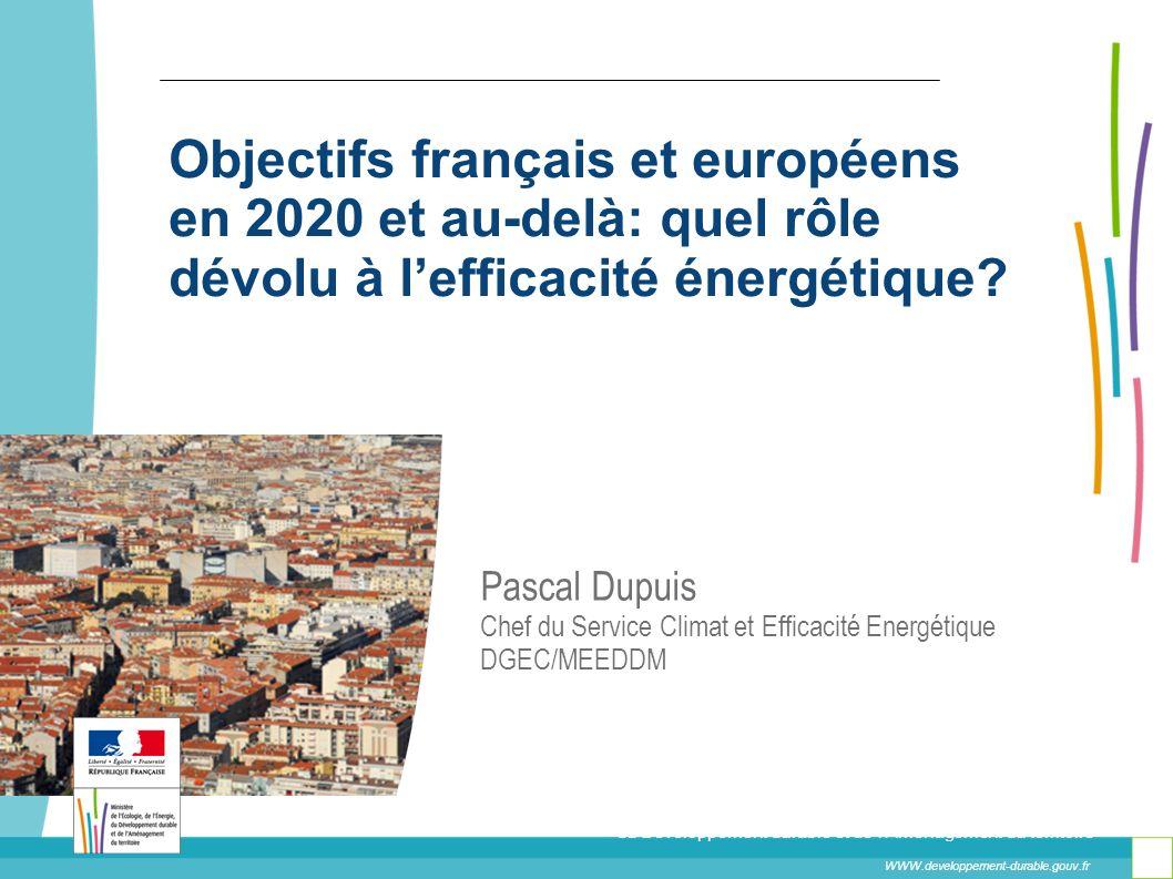 toitototototoot Objectifs français et européens en 2020 et au-delà: quel rôle dévolu à l'efficacité énergétique
